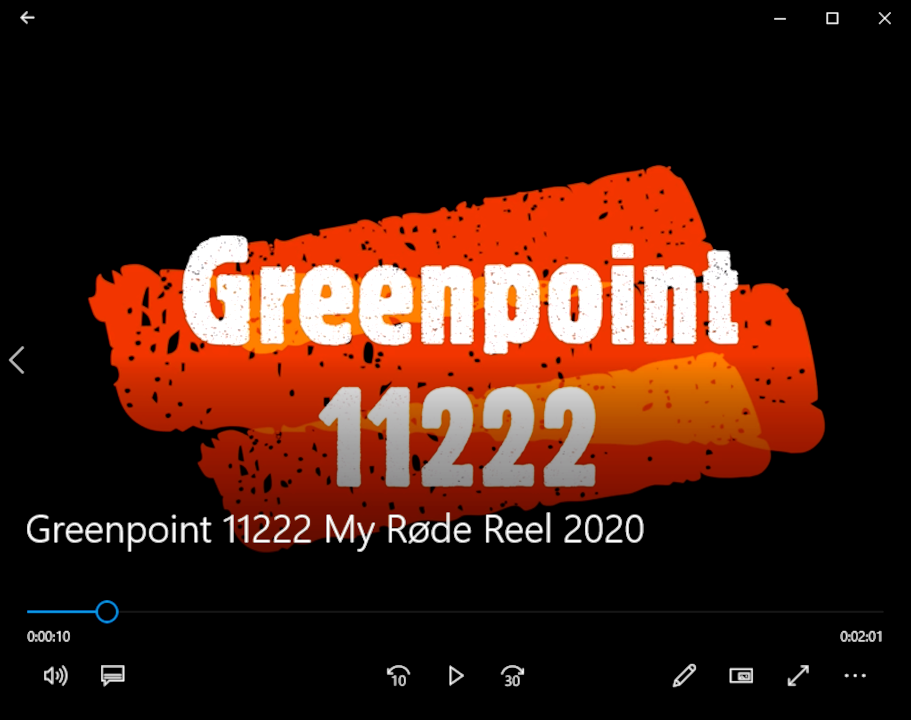 Greenpoint 11222 My Røde Reel 2020