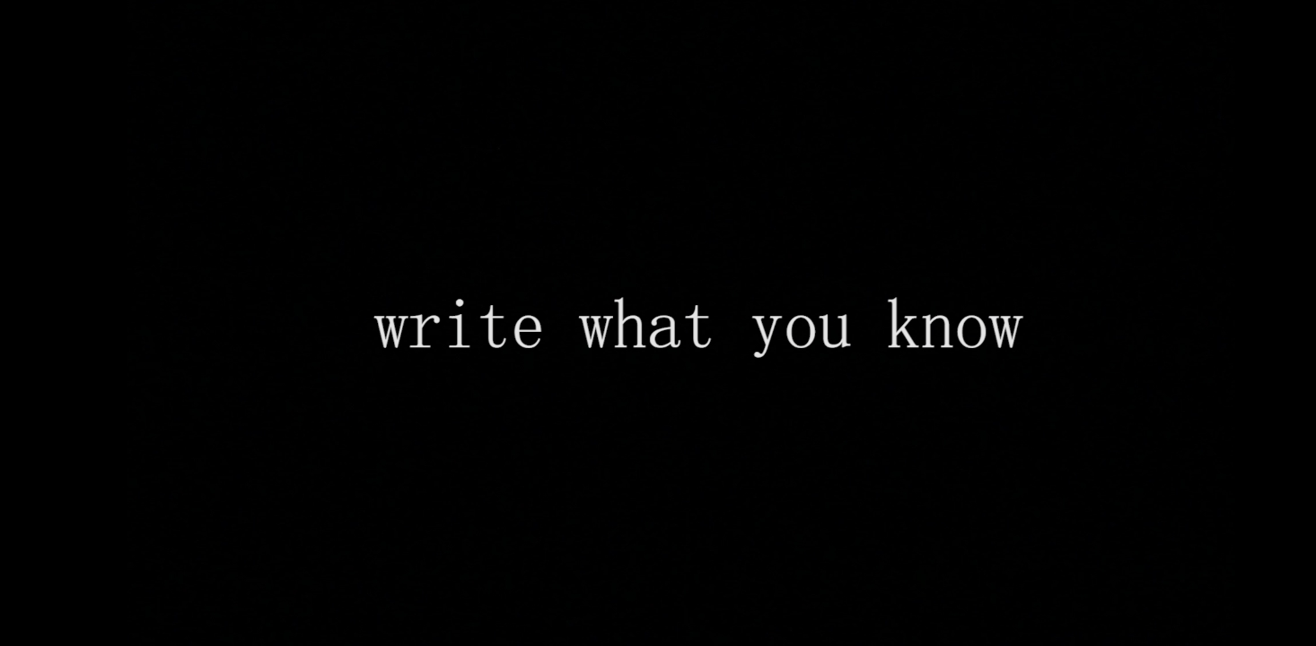 Write what you know- MY RODE REEL 2020